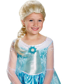 Peluca de Elsa Frozen para niña