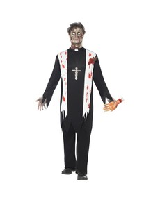 Disfraz de cura zombie