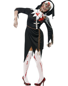 Disfraz de monja zombie