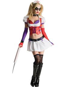Disfraz de Harley Quinn Arkham Asylum para mujer