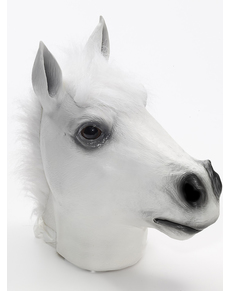 Máscara de caballo loco blanco