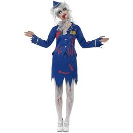Disfraz de azafata de avión zombie