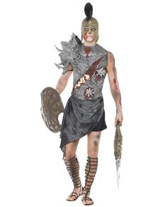 Disfraz de gladiador zombie negro