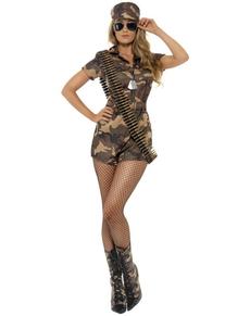 Disfraz de chica militar sexy