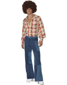 Disfraz retro de los 70 para hombre