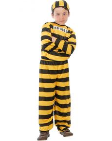Disfraz de presidiario peligroso para niño
