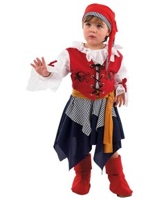 Disfraz de pirata bucanera bebé