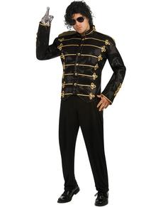Chaqueta de Michael Jackson Militar deluxe negra para adulto