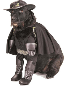 Disfraz de El Zorro para perro