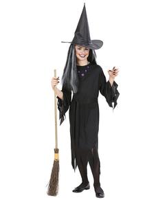 Disfraz de bruja de la oscuridad para niña