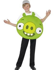 Disfraz de cerdito verde Angry Verde para niño