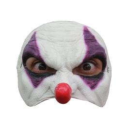 Media máscara de Payaso morado de látex