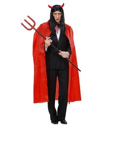 Capa roja fina larga para hombre