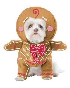 Disfraz de galleta de jengibre para perro