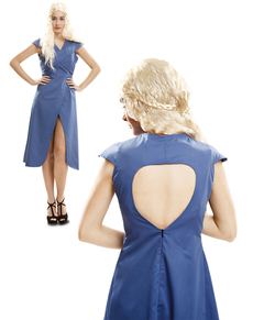 Disfraz de Reina Dragón azul para mujer
