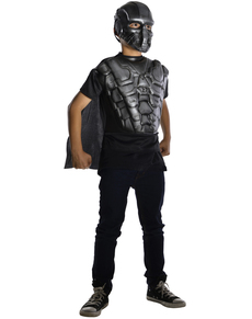 Kit disfraz armadura del General Zod Man of Steel para niño