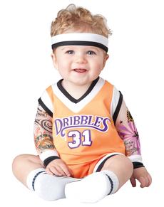 Disfraz de jugador de baloncesto para bebé