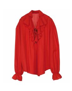Camisa roja de pirata para mujer