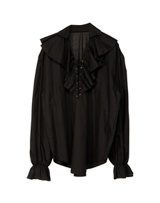 Camisa pirata negra para hombre