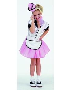 Disfraz de camarera de los 50 para niña