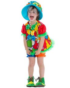 Disfraz de payasita feliz para niña