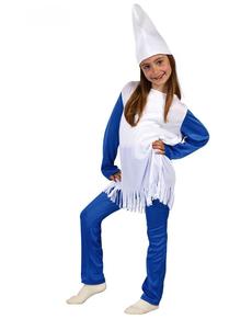 Disfraz de enanita azul niña