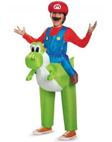 Disfraz Mario Bros ride on Yoshi para niño