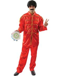 Disfraz de músico de Liverpool rojo para hombre