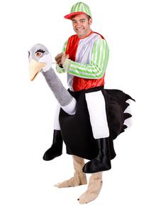 Disfraz de avestruz con jockey